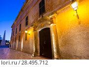 Купить «Ciutadella Menorca Major street in downtown Ciudadela at Balearic islands», фото № 28495712, снято 29 мая 2013 г. (c) Ingram Publishing / Фотобанк Лори