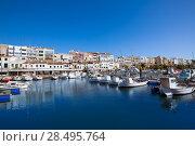 Купить «Ciutadella Menorca marina Port boats view in Balearic Islands», фото № 28495764, снято 25 мая 2013 г. (c) Ingram Publishing / Фотобанк Лори