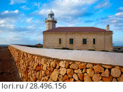 Купить «Menorca Punta Nati Faro lighthouse in Ciutadella Balearic Islands of Spain», фото № 28496156, снято 24 мая 2013 г. (c) Ingram Publishing / Фотобанк Лори