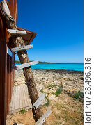 Купить «Menorca Son Saura beach in Ciutadella turquoise color at Balearic islands», фото № 28496316, снято 25 мая 2013 г. (c) Ingram Publishing / Фотобанк Лори