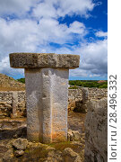 Купить «Menorca Taules Torralba de en Salort Salord prehistoric sanctuary in Balearic islands», фото № 28496332, снято 30 мая 2013 г. (c) Ingram Publishing / Фотобанк Лори