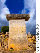 Купить «Menorca Taules Torralba de en Salort Salord prehistoric sanctuary in Balearic islands», фото № 28496340, снято 30 мая 2013 г. (c) Ingram Publishing / Фотобанк Лори