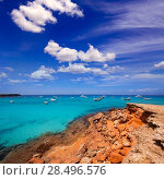 Купить «Formentera Cala Saona beach one of the best beaches in world near Ibiza», фото № 28496576, снято 16 августа 2018 г. (c) Ingram Publishing / Фотобанк Лори