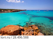 Купить «Formentera Cala Saona beach one of the best beaches in world near Ibiza», фото № 28496588, снято 16 августа 2018 г. (c) Ingram Publishing / Фотобанк Лори