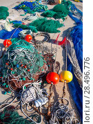 Купить «Formentera Balearic Islands fishing tackle nets longliner trawler trammel», фото № 28496776, снято 30 июня 2013 г. (c) Ingram Publishing / Фотобанк Лори