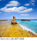 Купить «Denia Alicante Las rotas rocky beach in Spain and San Antonio Cape», фото № 28497008, снято 14 августа 2013 г. (c) Ingram Publishing / Фотобанк Лори
