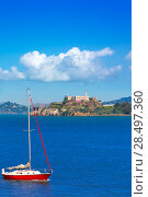 Купить «Alcatraz island penitentiary in San Francisco Bay California USA», фото № 28497360, снято 20 апреля 2013 г. (c) Ingram Publishing / Фотобанк Лори