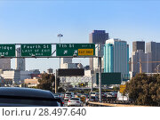 Купить «San Francisco city traffic in rush hour with downtown skyline California USA», фото № 28497640, снято 22 апреля 2013 г. (c) Ingram Publishing / Фотобанк Лори