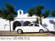 Купить «Ibiza Sant Carles de Peralta white church in Balearic Islands Spain», фото № 28498512, снято 8 июня 2013 г. (c) Ingram Publishing / Фотобанк Лори