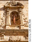 Купить «Benassal chuch facade Benasal in Maestrazgo Castellon Spain», фото № 28498708, снято 7 ноября 2007 г. (c) Ingram Publishing / Фотобанк Лори