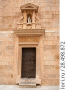 Купить «Castellon el Fadri tower door in Plaza Mayor square at Valencia community Spain», фото № 28498872, снято 21 апреля 2019 г. (c) Ingram Publishing / Фотобанк Лори