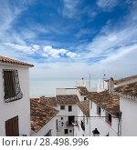 Купить «Peniscola downtown old white village Mediterranean houses in Castellon Spain», фото № 28498996, снято 2 июля 2020 г. (c) Ingram Publishing / Фотобанк Лори