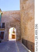 Segorbe Castellon Torre de la Carcel Portal de Teruel in Spain Valencian Community (2013 год). Стоковое фото, фотограф Tono Balaguer / Ingram Publishing / Фотобанк Лори