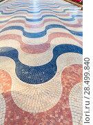 Купить «Alicante la Explanada de Espana mosaic of marble tiles flooring in Spain», фото № 28499840, снято 21 января 2014 г. (c) Ingram Publishing / Фотобанк Лори