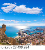 Купить «Alicante skyline aerial view from Santa Barbara Castle in Spain», фото № 28499924, снято 21 января 2014 г. (c) Ingram Publishing / Фотобанк Лори