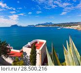 Купить «Mediterranean houses in Moraira Teulada at Alicante with Calpe Penon Ifach view», фото № 28500216, снято 23 января 2014 г. (c) Ingram Publishing / Фотобанк Лори
