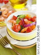 Купить «Seafood spaghetti pasta pot with shrimps and cherry tomatoes», фото № 28500648, снято 20 января 2014 г. (c) Ingram Publishing / Фотобанк Лори