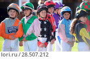 Купить «Pictured this afternoon - 17/10/16 Forget about the Grand National – the biggest horse-racing event on the calendar in Sussex starred junior jockeys racing...», фото № 28507212, снято 17 октября 2016 г. (c) age Fotostock / Фотобанк Лори
