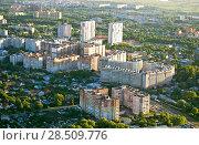 Купить «Вид сверху на Московский микрорайон города Рязани», фото № 28509776, снято 27 мая 2018 г. (c) Инна Грязнова / Фотобанк Лори