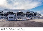 Купить «Самара. Футбольный стадион «Самара Арена»», фото № 28510176, снято 16 мая 2018 г. (c) Артем Блинов / Фотобанк Лори