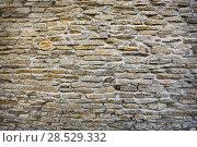 Купить «Masonry stone wall», фото № 28529332, снято 14 июня 2014 г. (c) Юрий Бизгаймер / Фотобанк Лори