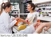 Купить «Manicure masters working», фото № 28530048, снято 28 апреля 2017 г. (c) Яков Филимонов / Фотобанк Лори