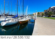 Купить «Palermo yacht port Sicily, Italy», фото № 28530132, снято 15 июня 2017 г. (c) Юрий Брыкайло / Фотобанк Лори