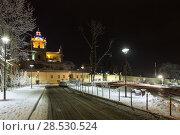 Купить «Night winter St. George Cathedral in, Ukraine», фото № 28530524, снято 4 декабря 2017 г. (c) Юрий Брыкайло / Фотобанк Лори