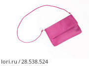Купить «colorful fashionable clutch bag isolated on white background», фото № 28538524, снято 22 марта 2017 г. (c) Tetiana Chugunova / Фотобанк Лори