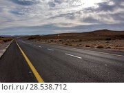 Купить «Road passing through desert, Makhtesh Ramon, Negev Desert, Israel», фото № 28538712, снято 1 января 2017 г. (c) Ingram Publishing / Фотобанк Лори