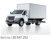 Купить «Truck template isolated on white», иллюстрация № 28547252 (c) Александр Володин / Фотобанк Лори