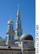 Купить «Купола Московской соборной мечети, Москва, Россия», фото № 28547480, снято 28 мая 2018 г. (c) Елена Коромыслова / Фотобанк Лори