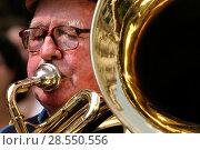 Man placing tuba. Стоковое фото, фотограф McPHOTO / age Fotostock / Фотобанк Лори
