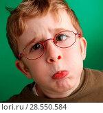 Купить «Boy making a face», фото № 28550584, снято 19 сентября 2018 г. (c) age Fotostock / Фотобанк Лори