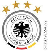 Эмблема сборной Германии по футболу. Стоковая иллюстрация, иллюстратор Владимир Макеев / Фотобанк Лори