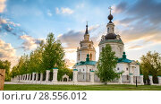 Купить «Orthodox church at sunset», видеоролик № 28556012, снято 11 июня 2017 г. (c) Sergey Borisov / Фотобанк Лори