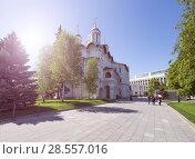 Купить «Inside of Moscow Kremlin, Russia (day)», фото № 28557016, снято 11 мая 2018 г. (c) Владимир Журавлев / Фотобанк Лори