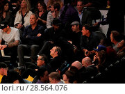 Купить «Celebrities at the Lakers game. The Los Angeles Lakers defeated the Golden State Warriors by the final score of 117-97 at Staples Center in downtown Los...», фото № 28564076, снято 4 ноября 2016 г. (c) age Fotostock / Фотобанк Лори