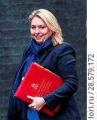 Купить «Ministers attend the weekly Cabinet meeting at 10 Downing Street, London. Featuring: Karen Bradley Where: London, United Kingdom When: 15 Nov 2016 Credit: WENN.com», фото № 28579172, снято 15 ноября 2016 г. (c) age Fotostock / Фотобанк Лори