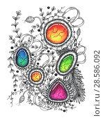 Купить «Abstract drawing in the style of zenart», иллюстрация № 28586092 (c) Любовь Назарова / Фотобанк Лори
