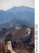 Купить «China, Beijing. the great Wall of China», фото № 28586132, снято 2 апреля 2017 г. (c) Яна Королёва / Фотобанк Лори