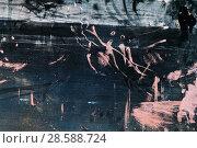 Купить «Grungy artistic metal surface, frontal background», фото № 28588724, снято 8 мая 2018 г. (c) EugeneSergeev / Фотобанк Лори