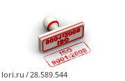 Купить «ISO 9001:2008. The stamp leaves a imprint», видеоролик № 28589544, снято 13 июня 2018 г. (c) WalDeMarus / Фотобанк Лори