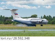 Купить «Ил-76МД (бортовой RF-78807) на посадке, аэродром Мигалово, Тверь», эксклюзивное фото № 28592348, снято 10 июня 2018 г. (c) Alexei Tavix / Фотобанк Лори