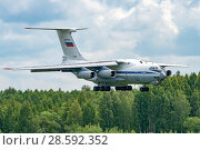 Купить «Ил-76МД (бортовой RF-78809) на посадке, аэродром Мигалово, Тверь», эксклюзивное фото № 28592352, снято 10 июня 2018 г. (c) Alexei Tavix / Фотобанк Лори