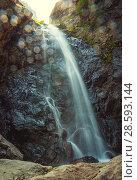 Водопад Гвелети недалеко от одноименной деревни. Окрестности посёлка Степанцминда, Грузия. Стоковое фото, фотограф Сергей Цепек / Фотобанк Лори