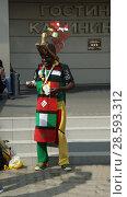 Купить «Африканский футбольный болельщик в Калининграде», фото № 28593312, снято 16 июня 2018 г. (c) Ed_Z / Фотобанк Лори