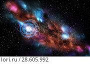 Купить «network projections in space», фото № 28605992, снято 20 мая 2019 г. (c) Syda Productions / Фотобанк Лори