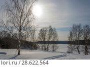 Купить «Winter landscape in the contra light», фото № 28622564, снято 3 марта 2018 г. (c) Валерий Смирнов / Фотобанк Лори