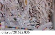 Купить «Recycling of garbage Cardboard paper production», видеоролик № 28622836, снято 14 июня 2018 г. (c) Aleksejs Bergmanis / Фотобанк Лори